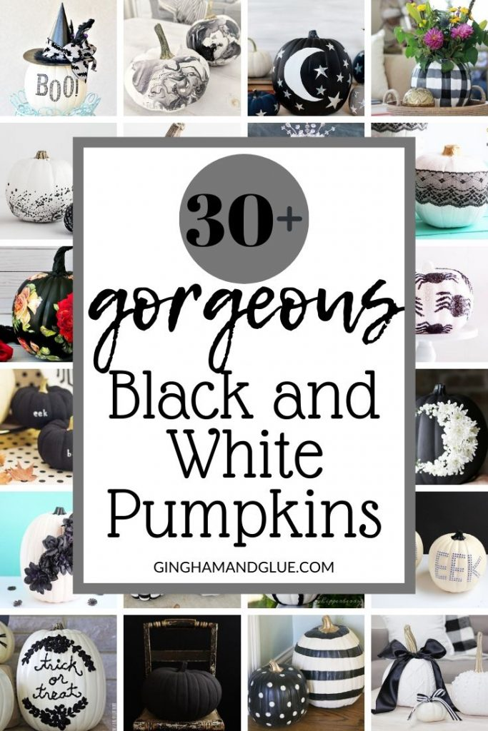 Black and white pumpkin painting ideas