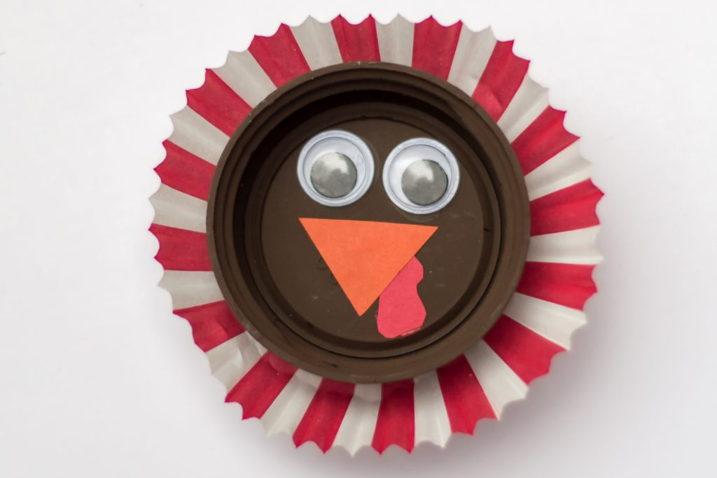 Bottle Cap Turkey Magnet Craft