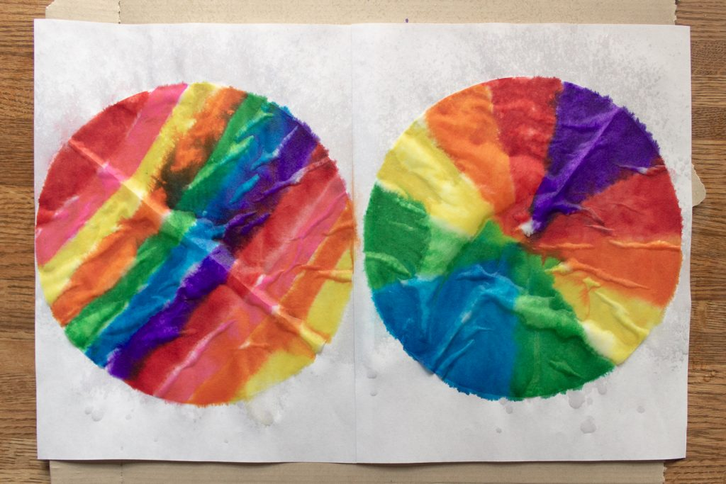 Colored Coffee Filters for Turkey Craft