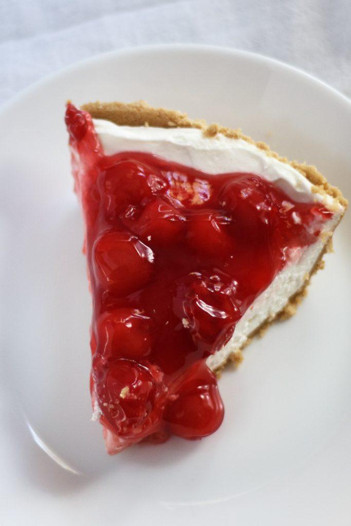 Easy No Bake Cherry Cream Cheese Pie
